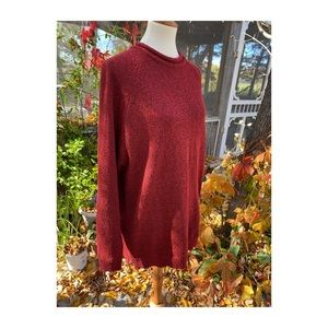 Jessica Red Black Pullover Knit Sweater Loungewear